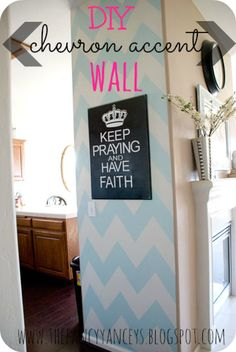 This chick is talented! Vintage Romance: DIY Chevron Accent Wall Tutorial