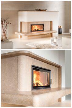So könnte Dein BRUNNER Grundofen mit hochwertiger Keramik aussehen. Tolles Design, eine große Sichtscheibe und gesunde Strahlungswärme für Dein Zuhause.  Gleich informieren: Modern, Fire, Places, Kitchen, Design, Home Decor, Glass Panels, Fireplaces, Ad Home