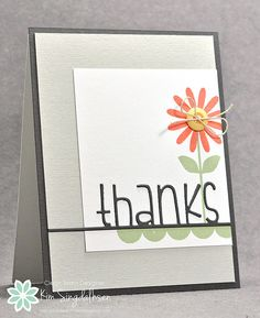 Thanks Flower from Joyful Creations with Kim for Freshly Made Sketches. All products from Simon Says Stamp.