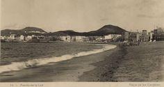 1940, de la Playa de Las Canteras en Las Palmas de G.C