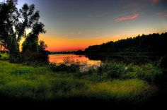 Like an Old-Time Postcard; Port Allen, Louisiana #louisiana #westbatonrouge #portallen #sunset