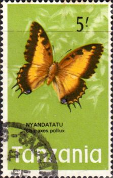 Tanzania 1973 Butterflies Fine Used SG 170 Scott 47 Other Tanzania and British Commonwealth Stamps HERE!