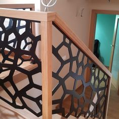 Balustrady ażurowe 3 Stair Railing, Railings, Laser Cut Panels, Staircase Design, Stairway, Staircases, Welding, Metal Working, Modern Furniture