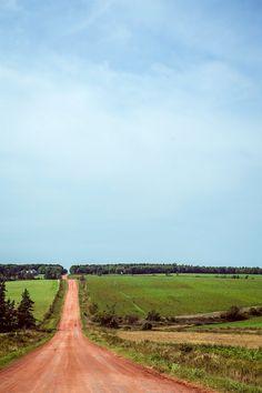 Red clay road (Prince Edward Island, Canada) by Kris Krüg cr.c.