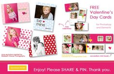 FREE Valentine's Day Mini Cards and Accordion Book Templates