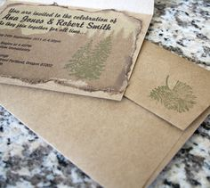 Woodsy Mountain Wedding Invitations---oh sweet baby Moses I love these