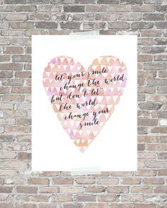 Nursery Art Print nursery printable quote by pitterpatternursery, $10.00