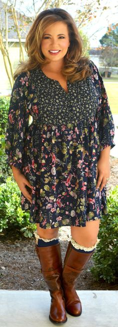 Perfectly Priscilla Boutique - Picking Wildflowers Tunic / Dress, $45.00 (http://www.perfectlypriscilla.com/picking-wildflowers-tunic-dress/)