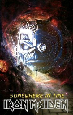 Eddie somewhere in time Heavy Metal Rock, Heavy Metal Bands, Iron Maiden Mascot, Evil Pictures, Iron Maiden Albums, Iron Maiden Posters, Eddie The Head, Adrian Smith, Rock Album Covers