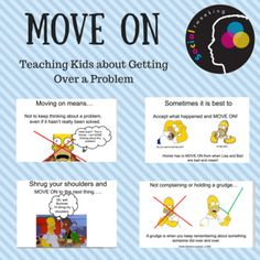 Ever had that student that just can't seem to get over things... he holds a grudge or wants to stay mad all day or the slightest problems? This social story plays on kids love of the Simpsons and teaches kids the invaluable skill of MOVING ON. There is a concrete explanation along with multiple examples of when a child could do this.
