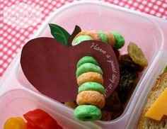 Bento Love: Back to School Lunch & Apple Note Treat!  DIY Lunch Note Treat