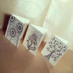 Zentangle Doodle Patterns | Zentangle & doodle. Illustration flower, sun and tree for greeting ...