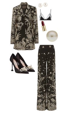 """Clutch my pearls"" by sistagirll on Polyvore featuring Naeem Khan, Miu Miu, Chanel, Henri Bendel, Urban Decay and Maison Close"
