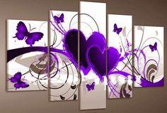 5 stuks / set rood hart Liefde Paarse vlinder, pop. woning MUUR moderne…