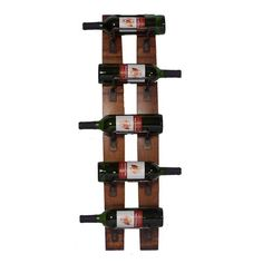 2 Day Designs, Inc 5 Bottle Wall Mounted Wine Rack