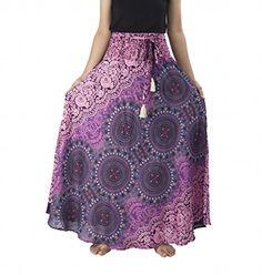 Lannaclothesdesign Women's Long Maxi Rose Multi Color Skirts Boho Skirts