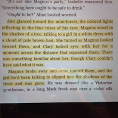 That awkward moment when you realize that that was tessa , Tessa gray or Tessa herondale ! Clary sees Jace's great great (and a lot ) grandmother!!!! City of glass ----- infernal devices
