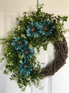Your place to buy and sell all things handmade Christmas Wreaths To Make, Holiday Wreaths, Greenery Wreath, Grapevine Wreath, Spring Front Door Wreaths, Spring Wreaths, Photo Wreath, Mothers Day Wreath, Year Round Wreath