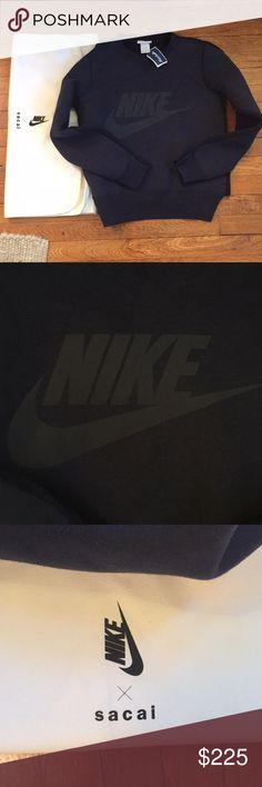 NWT Nike x Sacai Crew Neck Cable Knit Sweatshirt Crew neck Sweatshirt Cable knit back Dust bag included  Length: 23 in Nike Tops Sweatshirts & Hoodies