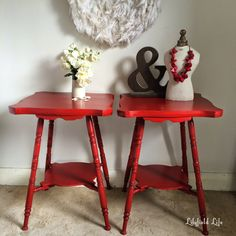 Lilyfield Life: ASCP Emperor's Silk Side Tables