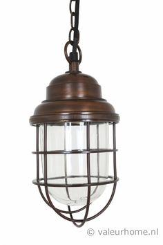 Hanglamp Cornwall Antiek brass dark