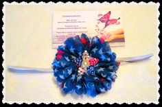 Red White Blue HeadbandBaby by christiencollection on Etsy
