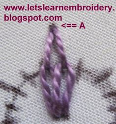 The following stitch could be used to embroider small flowers. Each petal consists of 3 lazy daisies stitched close to each other. ...