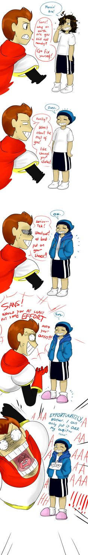 Undertale- HUMAN shortcomic: Sans the Troll by perfectshadow06