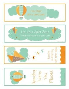 Soar With Reading  - Motivational Reading Bookmark Set