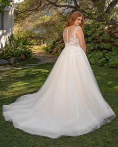 This affordable ballgown wedding dress from Beloved by Casablanca Bridal features a stunning ivory lace bodice, dotted with silver sequins and held together beautifully by an illusion neckline. Available in plus sizes! Rental Wedding Dresses, Simple Wedding Gowns, Wedding Dresses Plus Size, Tulle Wedding, Cheap Wedding Dress, Wedding Dress Styles, Plus Size Dresses, Sheath Wedding Gown, Casablanca
