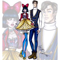 'Disney Darling Couples' by Hayden Williams: Snow White & Prince Florian #Disney