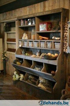 Cabinet for my quilt studio Primitive Furniture, Funky Furniture, Kitchen Furniture, Furniture Makeover, Kitchen Decor, Deco Champetre, Rustic Kitchen Design, Pantry Design, Kitchen Cabinetry