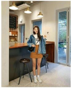 Korean Outfits School, Korean Skirt Outfits, Korean Winter Outfits, Korean Casual Outfits, Korean Outfit Street Styles, Korean Style, Korean Outfit Summer, Korean Ootd, Stylish Outfits