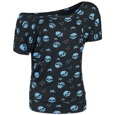Skulls & Stars Ladies Tee - T-Shirt by Full Volume by EMP