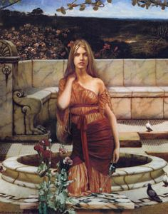 Harmonia, the Goddess of Marital Harmony was a daughter and companion of Aphrodite. She was frequently depicted attending the goddess in Greek vase paintings. (MMVI Colored Pencil on Bristol, by Howard David Johnson).