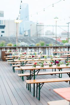5 Industrial Oklahoma Wedding Venues - The Rooftop at Plenty Mercantile | Photography: Ely Fair Photography #bridesofok #wedding #venue