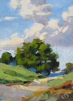 TOM BROWN PLEIN AIR WORKSHOP INFO, CALIFORNIA IMPRESSIONIST LANDSCAPE, original painting by artist Tom Brown | DailyPainters.com