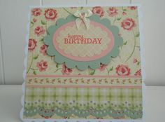 Floral birthday card by Pico Crafts
