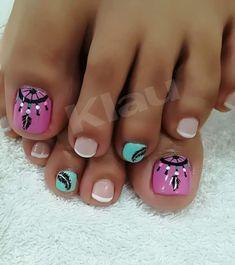 Cute Pedicures, Pedicure Nails, Mani Pedi, Cute Pedicure Designs, Toe Nail Designs, Toe Nail Art, Toe Nails, Pretty Toes, Pretty Nails