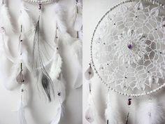Patchouli Dream . attrape-rêves blanc et violet par BoudoirDuChaman