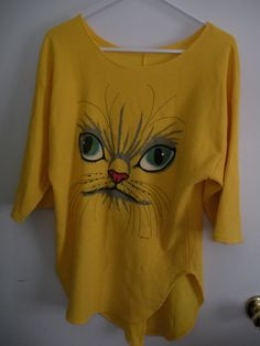 {vintage thermal kitty face top}