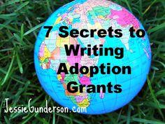 Christian adoptive mom's 7 secrets to writing adoption grants/