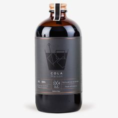 Cola Maison goes perfectly with rum, bourbon or whiskey cocktails. Juice Packaging, Beverage Packaging, Bottle Packaging, Brand Packaging, Cola Syrup, Whisky, Bourbon Whiskey, Coffee Label, Design Food