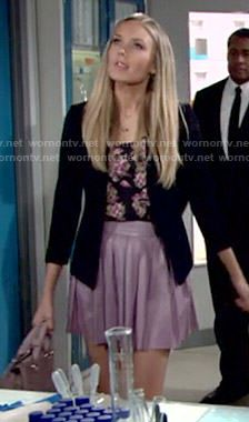 8ab0e827d831 Abby s purple pleated leather skirt on The Young and the Restless