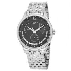 Tissot Men's T063.637.11.067.00 'Tradition' Dial Perpetual Calendar Swiss Quartz Watch