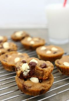 Wicked sweet kitchen: Chocolate chip cookie cups
