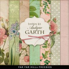 Far Far Hill: New Freebies Kit of Backgrounds - Antique Garth