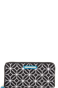 Graphic pattern makes for a sleek and chic wallet. Our Poolside Zip Around Wallet handily keeps all your cash, cards and ID organized and right at your fingertips. With pops of mod color, this wallet reminds us that carrying our essentials never has to be boring.   Poolside Zip Around by Trina Turk. Bags - Wallets & Wristlets California