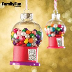 Petite Gumball Machines: Add a bit of sweetness to your holiday with this tiny version of a childhood favorite.
