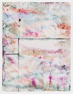 Morten Skrøder Lund : Untitled, 2014 - Pigment, acrylic polymer, styrofoam, acetone on canvas.